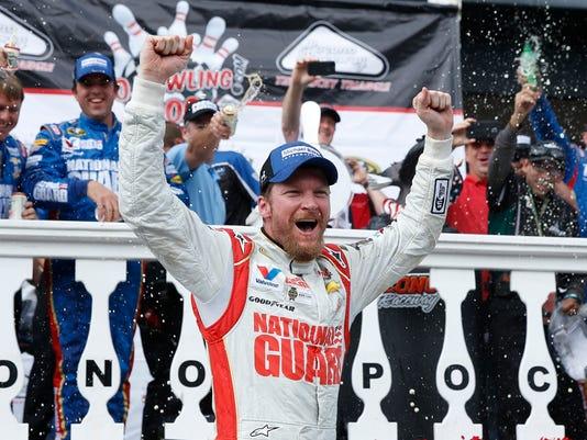 APTOPIX NASCAR Pocono Auto Racing