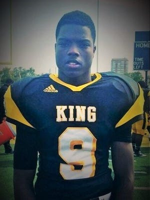 Wide receiver Donnie Corley of Martin Luther King High School will attend Spartans Elite Day on Sunday.