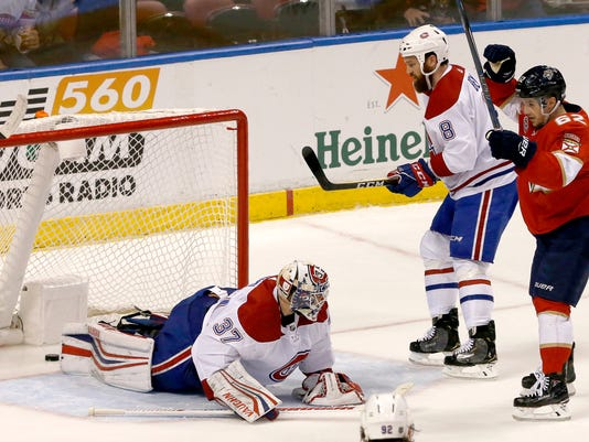e7f0785bce4 Tatar scores twice to lead Canadiens over Panthers 5-3