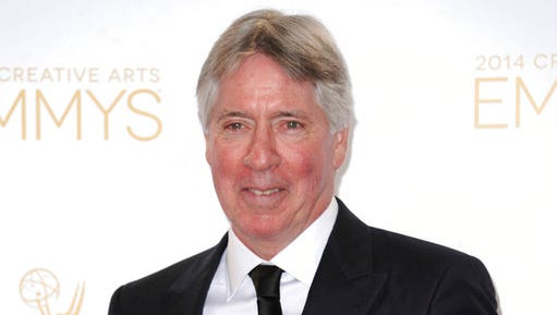 FILE - In this Aug. 16, 2014 file photo, Alan Silvestri poses in the press room  at the 2014 Creative Arts Emmys at Nokia Theatre L.A. LIVE in Los Angeles.  Silvestri will be honored with the BMI Icon Award next month in Beverly Hills, Calif.