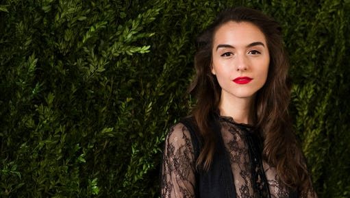 """FILE - In this April 21, 2017 file photo, Quinn Shephard attends the Chanel Tribeca Film Festival Women's Filmmaker Luncheon in New York. The 22-year old filmmaker put college on hold to work on the film, """"Blame,"""" which premiered at this year's Tribeca Film Festival. She also stars in the film along with Nadia Alexander, who grabbed a Best Actress award at the festival for her performance."""