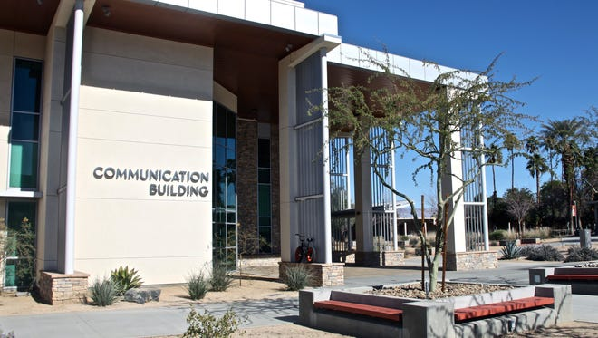 A photograph of College of the Desert's Communication Building taken on Monday, Jan. 25, 2016.