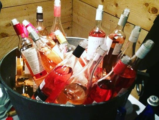 A recent rosé tasting in New York City.