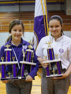 Olivia Hebert received the Junior High Viking Award for her moral and academic excellence and her loving service to others. Olivia and Emily Richard were the recipients of the Outstanding Academic Awards for 8th grade.