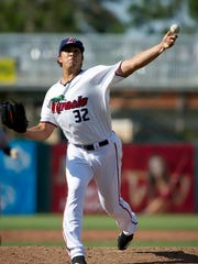 Andrew Vasquez, a Fort Myers Miracle relief pitcher
