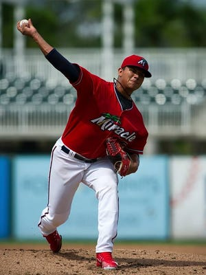 Brusdar Graterol, one of the top pitching prospects in minor league baseball, has landed with the Fort Myers Miracle.