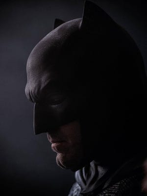 Batman v Superman films Oct. 16 and 17, 2014, in the Lansing area. It starts Ben Affleck, shown here in full costume.