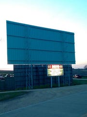 It's hard to miss the back of the 61 Drive-In theater, located on U.S. Highway 61 just south of Maquoketa.