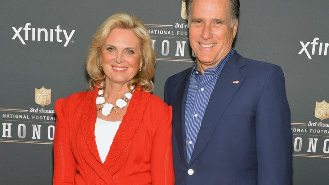 NEW YORK, NY - FEBRUARY 01:  Ann Romney and former Governor of Massachusetts Mitt Romney attend the 3rd Annual NFL Honors at Radio City Music Hall on February 1, 2014 in New York City.  (Photo by Slaven Vlasic/Getty Images)
