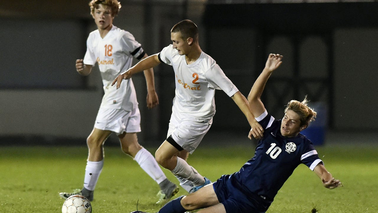 Central York's Zak Kakos discusses how he came up with the play that led to the Panthers' only goal in a 1-0 win over Susquehannock in the YAIAA semifinals Tuesday.