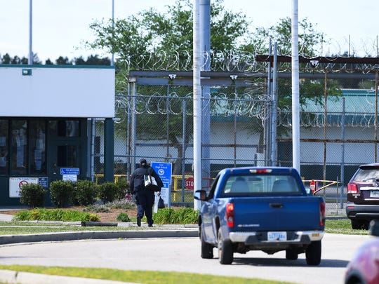 "Employees arrive at Lee Correctional Institution on Monday, April 16, 2018 after a ""mass casualty incident"" overnight at the institution in Bishopville left seven inmates dead and 20 others requiring medical attention."