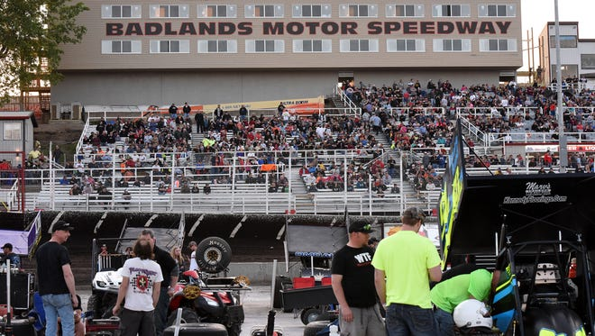 Badlands Motor Speedway grand opening in Brandon, S.D., Saturday, May 21, 2016.