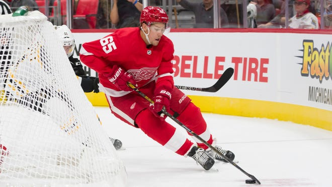 Detroit defenseman Danny DeKeyser has only played in three of eight games after taking a shot to the inside of the foot in a 4-2 loss at Dallas Oct. 10.