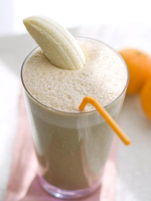 Oranges and bananas are great additions to smoothies.
