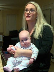 Shana Bereche and her 4-month-old daughter, Leighton,