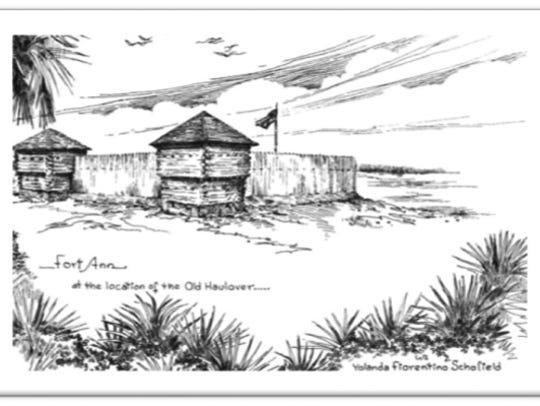 A rendering of Ft. Ann on Merritt Island.