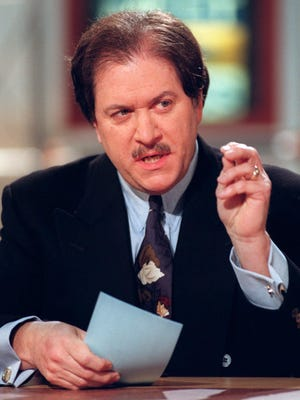 "Former U.S. Attorney Joseph diGenova appears on NBC's ""Meet the Press,"" Sunday, Feb. 22, 1998, in Washington. Preparing for another week of defending him in the Monica Lewinsky investigation, President Clinton's loyalists are trying to keep all options open on such issues as Clinton's own testimony and executive privilege. DiGenova, who served in the Reagan administration, said that if the Clinton camp really believes that Whitewater prosecutor Kenneth Starr is out to ""get the president,"" then ""I'd tell him not to give the testimony and live with the political consequences."" (AP Photo/Meet the Press, Richard Ellis)"