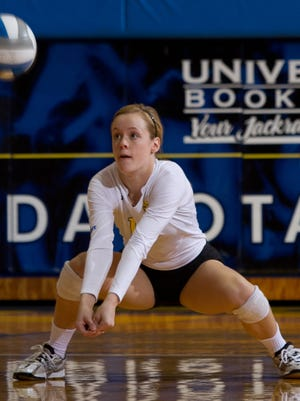 Lizzie Palmer and the Jackrabbits dropped their conference opener in five sets, but they're still optimistic despite having lost 12 straight matches.