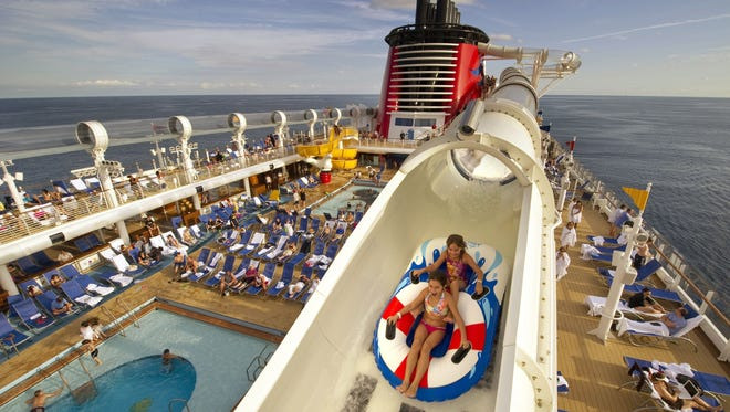 Disney Cruise Line introduces a cruise industry innovation on the Disney Dream with the debut of AquaDuck, the first-ever shipboard water coaster.