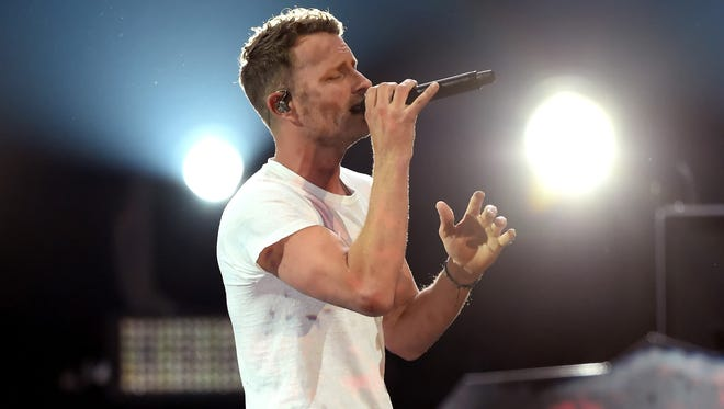 Co-host Dierks Bentley performs Sunday during the 52nd Academy Of Country Music Awards at T-Mobile Arena in Las Vegas. Bentley will play Summerfest's 50th on July 7.