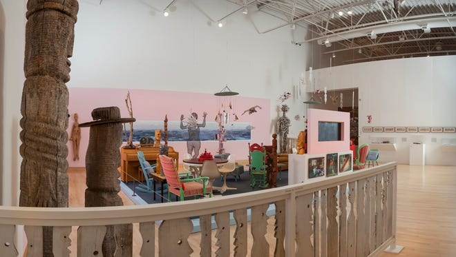 Greetings and Salutations and Boo explores the breadth of works found in Mary Nohl's lakefront artist-built environment.