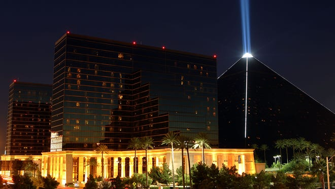 Exterior photo of the Luxor Hotel & Casino November 11, 2005 in Las Vegas.
