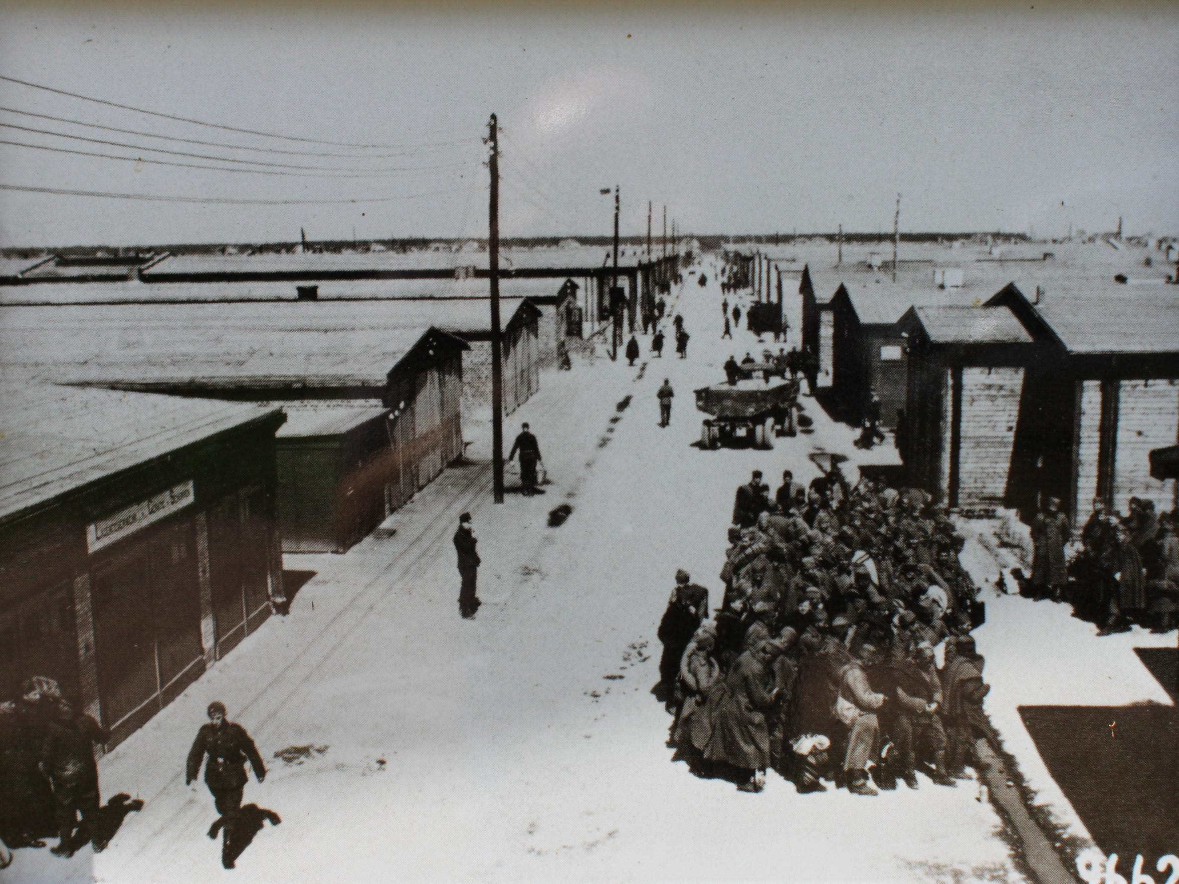 The mainstreet of Stalag IV-B, where Keith Ginther of Choteau was a prisioner of war during World War II. Rations were lean and barracks overcrowded. Jewish Americans disappeared from the POW camps into Nazi extermination camps.