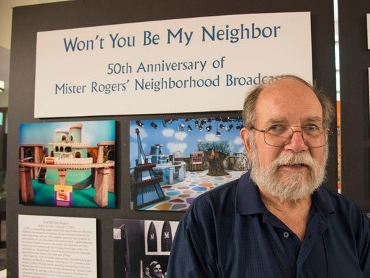 Ron Vinson put together the Mister Rogers' exhibit