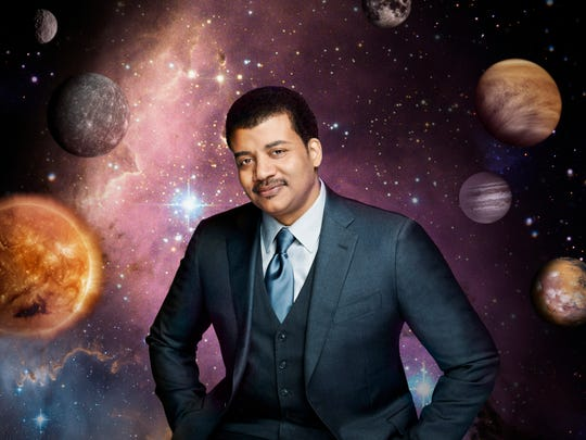 "Neil deGrasse Tyson, the astrophysicist who hosts the FOX television show ""Cosmos: A Spacetime Odyssey."""