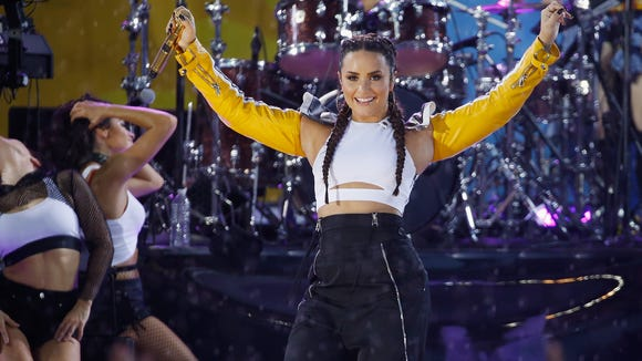 Demi Lovato performing on ABC's 'Good Morning America'