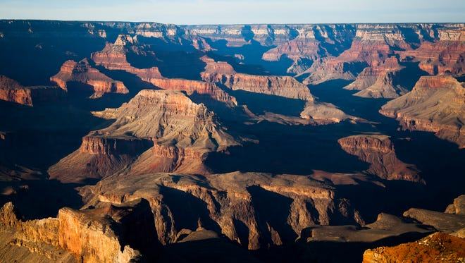 The view from Mohave Point at the South Rim of the Grand Canyon is pictured on Tuesday, May 13, 2014 in Arizona.