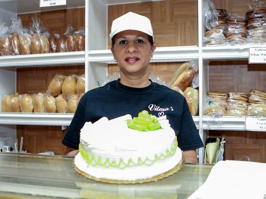 Vilma Lopez owner of Vilma's Bakery on Main St. in