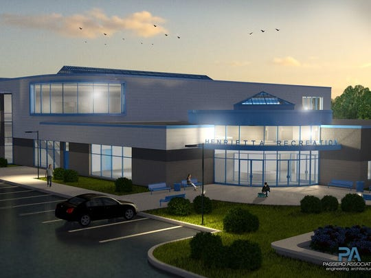 Rendering of the proposed Henrietta Recreation Center.