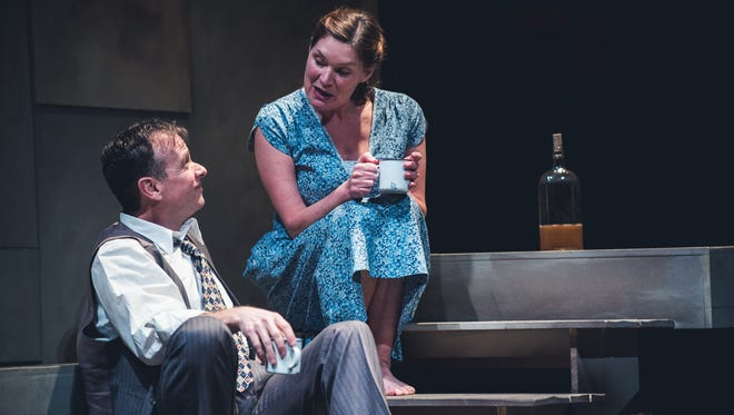 Donald Sage Mackay as James Tyrone and Kate Forbes as Josie Hogan in 'A Moon for the Misbegotten' at Geva.