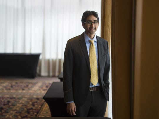 Jay Desai of PatientPing, a company that provides patient-tracking software, at the Sheraton Burlington Hotel and Conference Center in South Burlington on Tuesday.