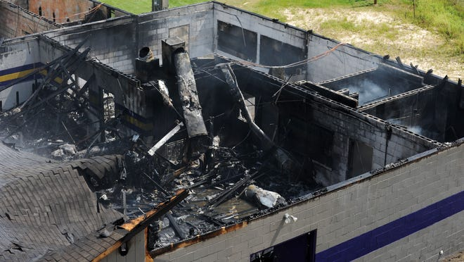 The Purvis High School field house was declared a total loss after a fire on Aug. 16.