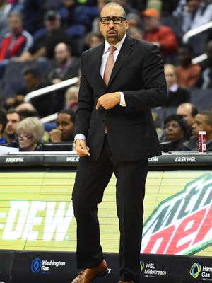 Jan 18, 2017; Washington, DC, USA; Memphis Grizzlies head coach David Fizdale looks on against the Washington Wizards during the first half at Verizon Center. Mandatory Credit: Brad Mills-USA TODAY Sports