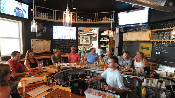 A view of the interior of the newly-opened Beachside Bar & Grill in Rehoboth Beach.