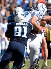 Titans outside linebacker Derrick Morgan (91) sacks