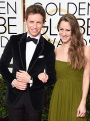 Actor Eddie Redmayne and wife Hannah Bagshawe arrive