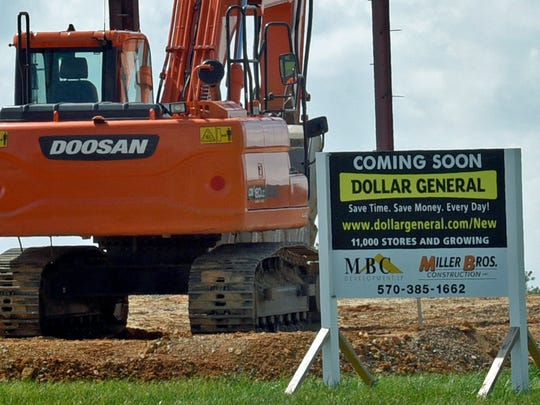 Dollar General is under construction on Black Gap Road, Greene Township near Chambersburg Mall. Opening is expected in early fall.