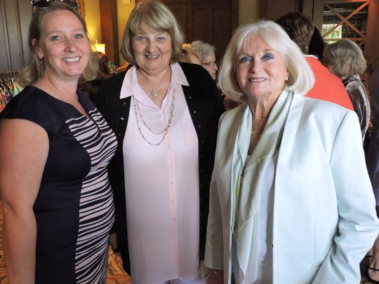 Enjoying the Mary's Shelter luncheon were Linda MacKenzie-Ranc, Sylvia MacKenzie and Sally Lazarus.