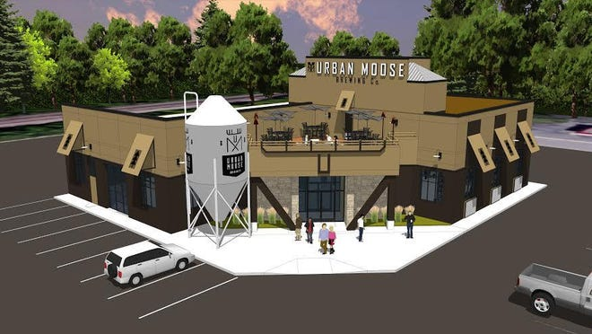 HMA Architects concept of Urban Moose Brewing Co.