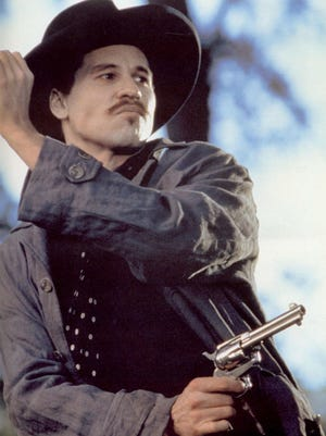 "Val Kilmer plays Doc Holliday in 1993's ""Tombstone."""