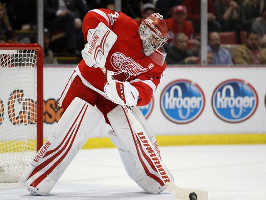 NHL: Ottawa Senators at Detroit Red Wings