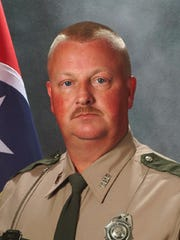 In this undated photo provided by the Tennessee Department of Safety, former Tennessee Highway Patrol Trooper James Randy Moss is shown.