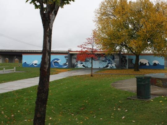 Zachary Wilson designed one of the three murals in Binghamton's Cheri A. Lindsey Memorial Park.