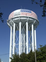 The Cocoa water tower's stars and stripes were originally