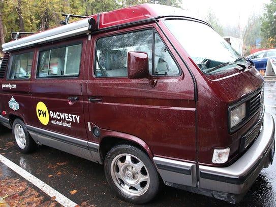 PacWesty's Volkswagen Westfalia named Rosie.
