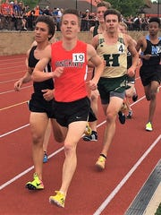 Ryan Talbott (19) set the Pinckney record in the 3,200